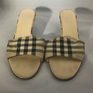 Burberry Fabric Sandals